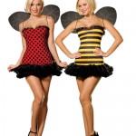 Wende-Damen-Kostüm Bienen/Marienkäfer