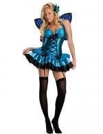 Blaues Fee Kostüm für Frauen - Karneval und Fashing