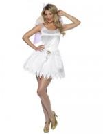 Weiße Fee Kostüm - Fairy Kostüm - Karneval und Fashing