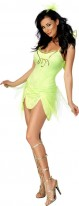 Grüner Fee Kostüm für Frauen - Karnevalskostüm